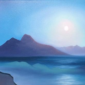 Интерьерная картина Море лунной ночью, 30*40, холст, масло