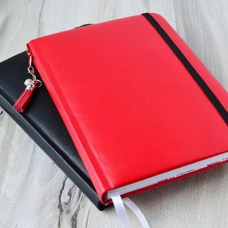 Блокнот в точку. Bullet Journal. Черный. Красный