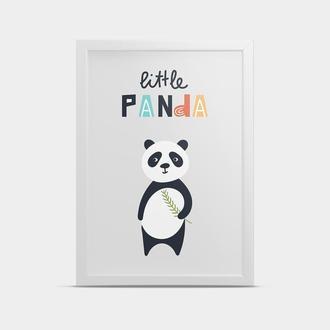 Постер Маленькая панда 30*40 см
