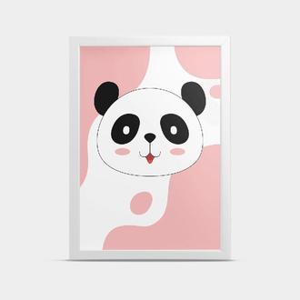 Постер Панда Розовый 30*40 см