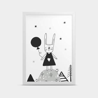 Постер в детскую Зайка 20*30 см