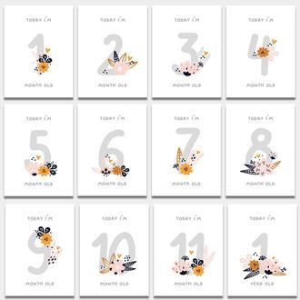 Карточки для фото 12 месяцев