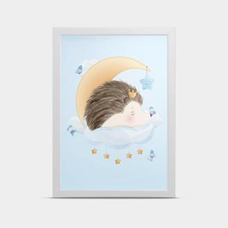 Постер на стену Слоник на луне 30*40 см
