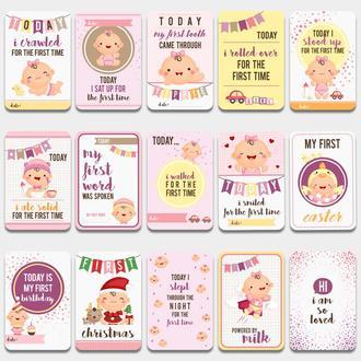 Карточки для фото Первый годик Девочки