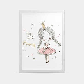 Постер на стену в детскую Девочка Принцесса 30*40 см