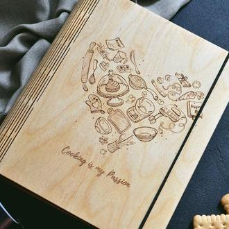 "Кулинарная книга / Книга для рецептов ""Cooking is my passion"""
