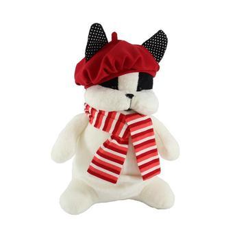 """Французский бульдог """"Пьер"""" черно-белый. Собака игрушка бульдог плюшевая. Новый Год 2018"""