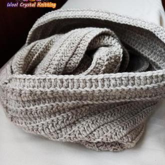 Зимний хомут-снуд, шарф  Теплое кофе