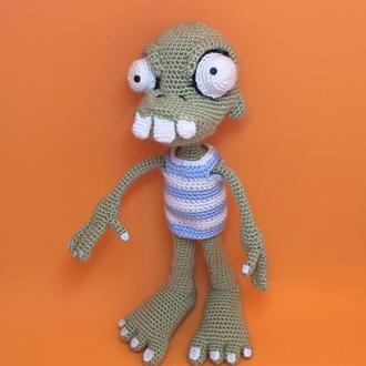 Зомби, вязаная кукла