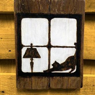 """Картина в стиле лофт """"Cat&Lamp"""""""
