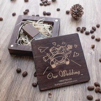Квадратная коробочка для подарка или юсб флешки. Бесплатная гравировка !