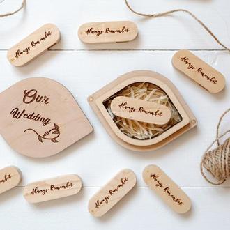 Коробочка в форме листика. Овальная деревянная коробочка под флешку или подарок.