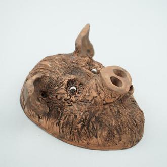 Свинья маска керамическая