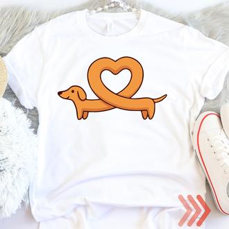 Женская, детская футболка белая Такса