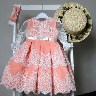 Плаття  нарядне на рочок. Плаття мереживне, 100% сертифіковані тканини.