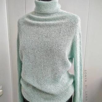 Шикарный свитер из итальянской пряжи с люрексом