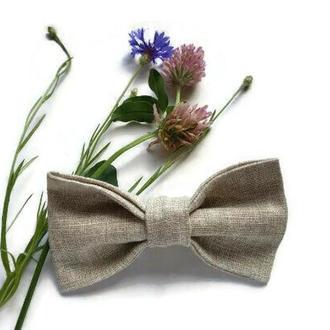Классический галстук-бабочка из натурального льна