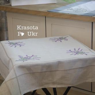 Скатертина на стіл з лавандою