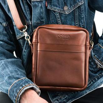 Мужская сумка через плече Brick bag middle