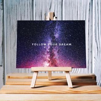 Открытка «Follow your dream»