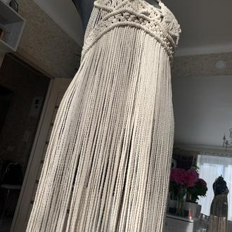 Макраме платье Вязаное платье Платье в стиле бохо Фестивальное платье Пляжный наряд  Burning man