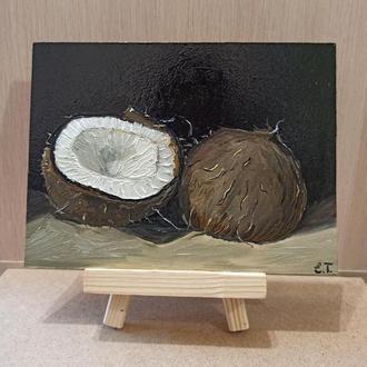 Картина Маслом Кокос Інтер'єр для кухні