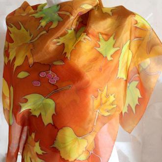 "Платок шелковый батик ""Осень"""