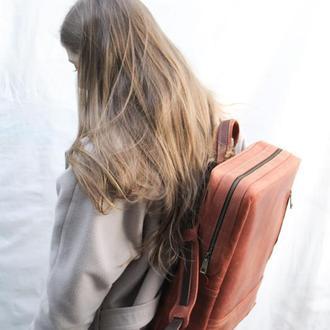 """Кожаный Рюкзак """"Мак-Бук"""" кожа Crazy Horse, цвет Коричневый"""