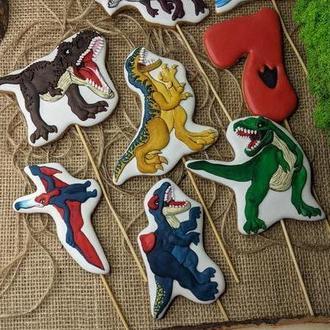 Пряники динозавры