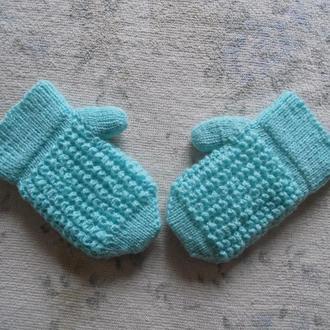 рукавички на ребеночка , замеры в описании
