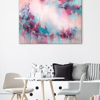 Велика абстрактна картина на полотні 60х80, оригінальний сучасний живопис