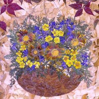 Композиция с кашпо (засушенные цветы)