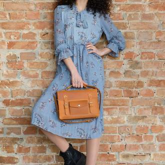 Сумка-портфель Тара из натуральной кожи, на выбор 3 размера и 6 цветов 0177