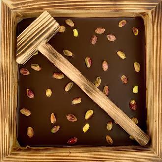 """Черный органический шоколад """"Hammer фисташка"""" 73%, 350г"""