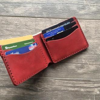 Классический кожаный кошелек-портмоне. Покупай меньше, выбирай лучше.