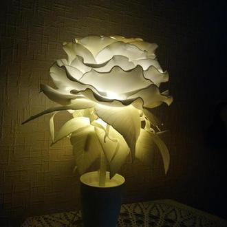 Светильник роза, подарок,ручная работа