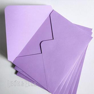 Набір кольорових конвертів (Лаванда), 10шт