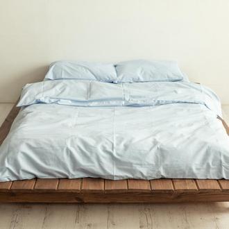 Нежно-голубое постельное белье