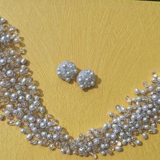 Свадебный комплект украшений, комплект для невесты, украшения для невесты