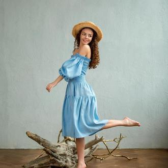 Льняное платье с 100% льна