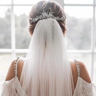 Весільна прикраса для волосся, гілочка в зачіску, прикраса в зачіску, гілочка для зачіски
