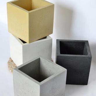 Горщик з бетону Куб 12*12 см