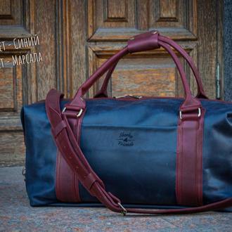 Дорожная сумка ручной работы. Кожаная спортивная сумка