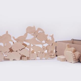 """Деревянные игрушки балансир """"Животные"""""""