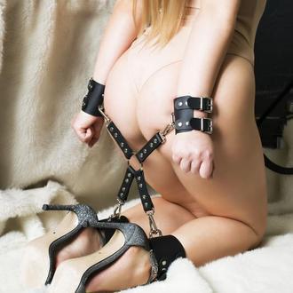 Крестовина BDSM с манжетами, наручники с креплением к рукам и ногам