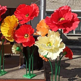 Декорации на праздник большие цветы