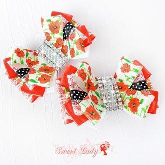 Бантики для девочек под вышиванку, национальный стиль
