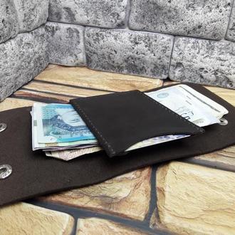 Минималистичный кошелек из кожи K106-450