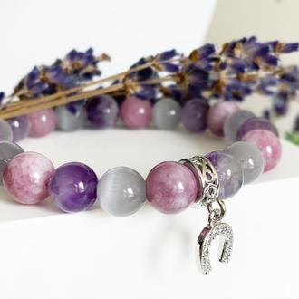 Лаванда Оттенки лаванды Лавандовый браслет Стильный браслет подарок девушке (модель № 703) JKjewelry