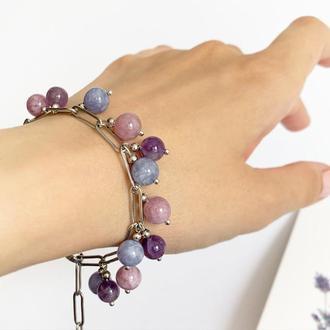 Лаванда Оттенки лаванды Лавандовый аметист Браслет Подарок девушке (модель № 705) JK jewelry
